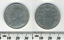 Canada 1916 - 50 Cents Silver Coin - King George V - WWI mintage