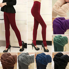 Women's Warm Fleece Lined Thermal Stretch Slim Skinny Jeggings Leggings Pants