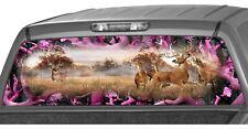 Whitetail Buck Oak Ambush Pink Camo Rear Window Graphics Decals Truck Wrap