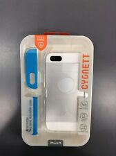 Cygnett Alternate Two Tone Dockable Case White & Blue iPhone 5 Ships from U.S.