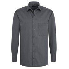 Eterna Herrenhemd Langarm Comfort Fit Schwarz gestreift XL/44 Hemd 4610/38/E187