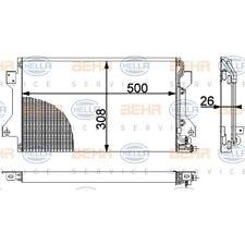 ORIGINAL HELLA Klimaanlage Kondensator Porsche 944 Bj.81-95 8FC351038-381
