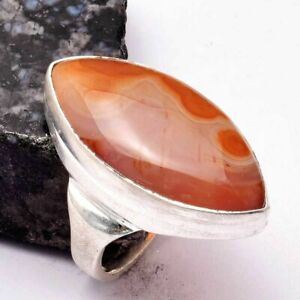 Agate Ethnic Handmade Man's Ring Jewelry US Size-7.75 AR 28900