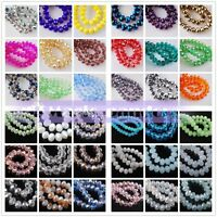 500pcs 4x3mm Wholesale Rondelle Faceted Crystal Glass Charms Loose Spacer Beads