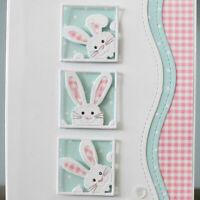 Metal Rabbit Cutting Dies Stencil DIY Scrapbooking Paper Embossing Card Craft