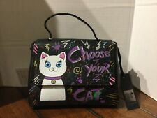 Laura Di Maggio Milano  Choose your Cat Soft Leather Bag  NWT