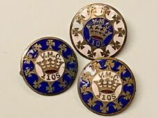 3  ROYAL ARCANUM Fraternal Society V.M.C. 1105  PINBACK  PINS
