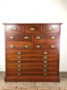 Large Edwardian Mahogany Bank of Drawers (M-1601) - FREE DELIVERY*