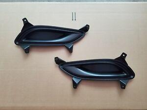 2PC Set 2011-2013 SONATA Front Bumper DRIVER & PASSENGER Fog Light Grille Bezel