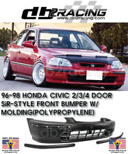 SIR-Style JDM Front Bumper With Molding Fits 96-98 Honda Civic 2/3/4dr