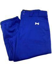 Under Armour Mens  Baseball Pants, Royal Blue, Large, New