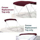 Bimini Top Boat Cover Canvas Fabric Burgundy With Boot Fits 3 Bow 72l 61-66w