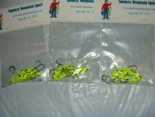 Jig Head Round Ball Head 1/8 oz-Flo Green/Black eye-#1 Hook-3 packs, 10 per pack