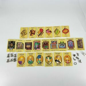 The Simpsons Clue Game Parts 1st Edition 12 Pewter Game Pieces + Clue Cards