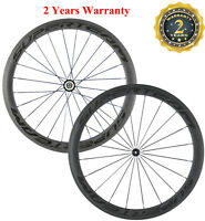 Road Bike Carbon Fiber 700C Wheels Wheelse 50mm Clincher Wheelset Bicycle Wheel