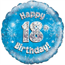 """HAPPY 18th BIRTHDAY 18"""" FOIL """"BALLOON IN A BOX"""" INFLATED"""