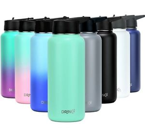 DRINCO Sport Water Bottle Hydro Vacuum Insulated Stainless Steel 32oz Flask