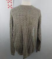 Bill Blass mens size XLT sweater knit brown gray weave cotton blend made in usa