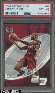 2004 Skybox E-XL #53 LeBron James Cleveland Cavaliers PSA 8 NM-MT