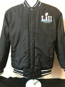 SB LII Minneapolis Philadelphia Eagles NFL Men's Reversible Heavy Jacket Size S