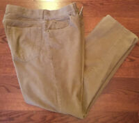 J. Crew Men's Brown Tan Corduroy Pants Size 31 X 30
