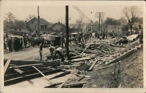 RPPC Louisiana Cyclone Damage Real Photo Post Card Vintage