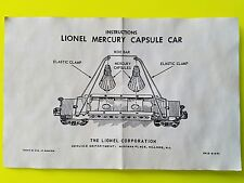 LIONEL  6413  MERCURY  CAR INSTRUCTIONS