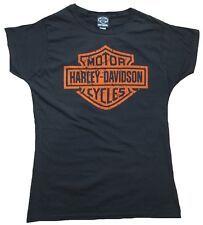 BRAVADO Official HARLEY DAVIDSON Merchan. BAR & SHIELD Vintage Lady T-Shirt M 38