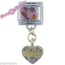 HUGS & KISSES Daisy CHARM Dangle Italian Charms fits Nomination Classic Bracelet