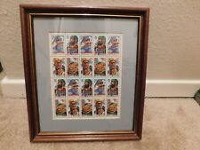 Framed picture of 20 32cents US stamps of Folk Heroes