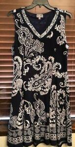 Women's JM Collection Blue/White Pullover Dress.  Size XL.  PRETTY!