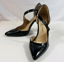 Chinese Laundry Womens Black Pointed Toe Ankle Strap Pumps Size 9M