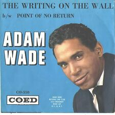 ADAM WADE--PICTURE SLEEVE + 45---(WRITING ON THE WALL)--PS--PIC--SLV