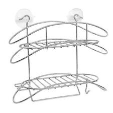 Stainless Steel Shower Caddy Bath Organizer Shelf Wire Basket Suction Cup S247