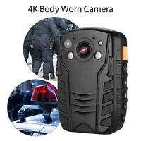 4K HD 1296P Police Body Worn Camera Security IR Night Vision Recorder Mini LCD