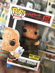 Funko Pop A Nightmare on Elm Street Freddy Krueger 224 Exclusive MINT +Protector