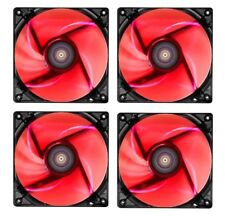 4 X Pack AeroCool Lightning 12 cm 120 mm Ventola per custodia LED rosso, 41.40CFM, 22.5dB, OEM