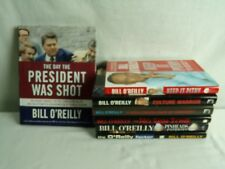 Bill O'Reilly Book lot 7 Culture Warrior Pinheads & Patriots Keep it Pithy HC ++