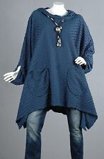 Kaschierwunder Pullover Tunika Longpullover Top Bluse Shirt Longtop Wolle 2XL 56