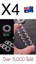 4X Clear Elastic Rubber Hair Ties Band Rope Ponytail Holder Spiral Accessories