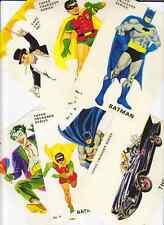 1960's Facsimile BATMAN Postcards - Set Of 6 - Batmobile Joker Penguin Robin TV