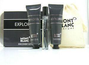 Mont Blanc Explorer Set 7,5 ml EDP Spray 30 ml AS Balm 30 ml Shower Gel Pouch