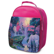 Unicorn Lunch Bag School Childrens Girls Insulated Pink Personalised Fairy ST841