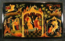 Russian hand painted lacquer box from Palekh. Very beautiful box!