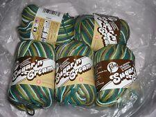 "5 Skeins, Lily, ""Sugar 'N Cream"", Rick Rack Ombre, 100% Cotton Yarn"