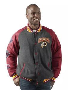 WASHINGTON REDSKINS Mens Small Super Bowl Champions Varsity Commemorative Jacket
