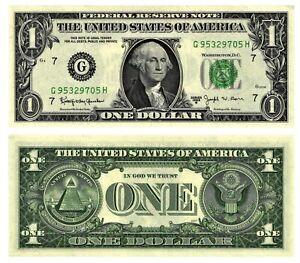 Vtg 1963 B $1 Bill Federal Reserve Note THE FAMOUS BARR NOTE FR#1902-G CU CRISP