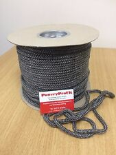 6mm BLACK STOVE ROPE WHITE QUALITY GLASS FIBRE ROPE SEAL LAGGING WOODBURNER OVEN
