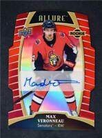 2019-20 Allure Red Rainbow Auto Rookie #77 Max Veronneau /349 - Ottawa Senators