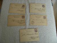 Deutsche Reichspost 1885- 1887 Postkarte gelaufen